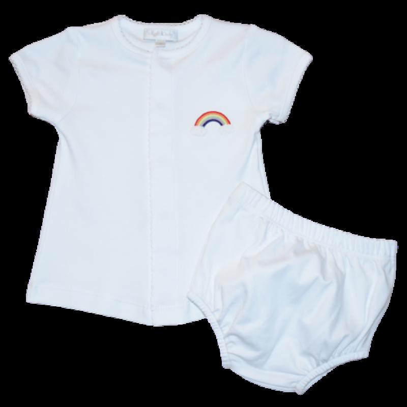 Magnolia Baby Magnolia Baby Rainbow Baby Emb. Diaper Cover Set