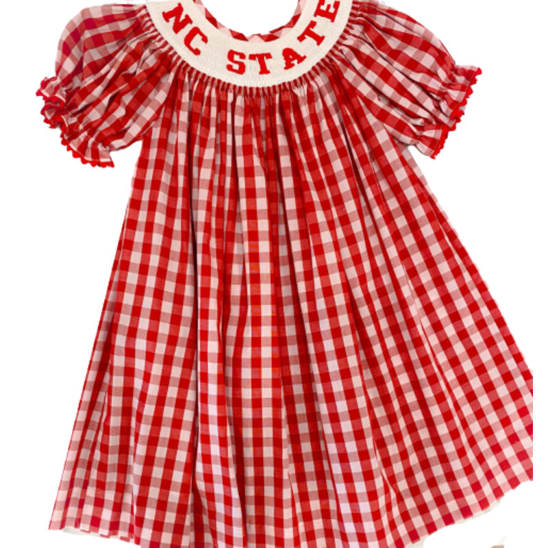 Vive La Fete Vive La Fete NCSU Smocked SS Bishop Dress
