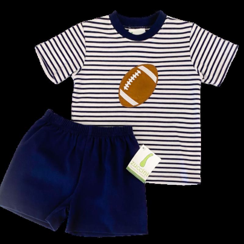 Zuccini Zuccini Boy Football Striped Navy T-Shirt