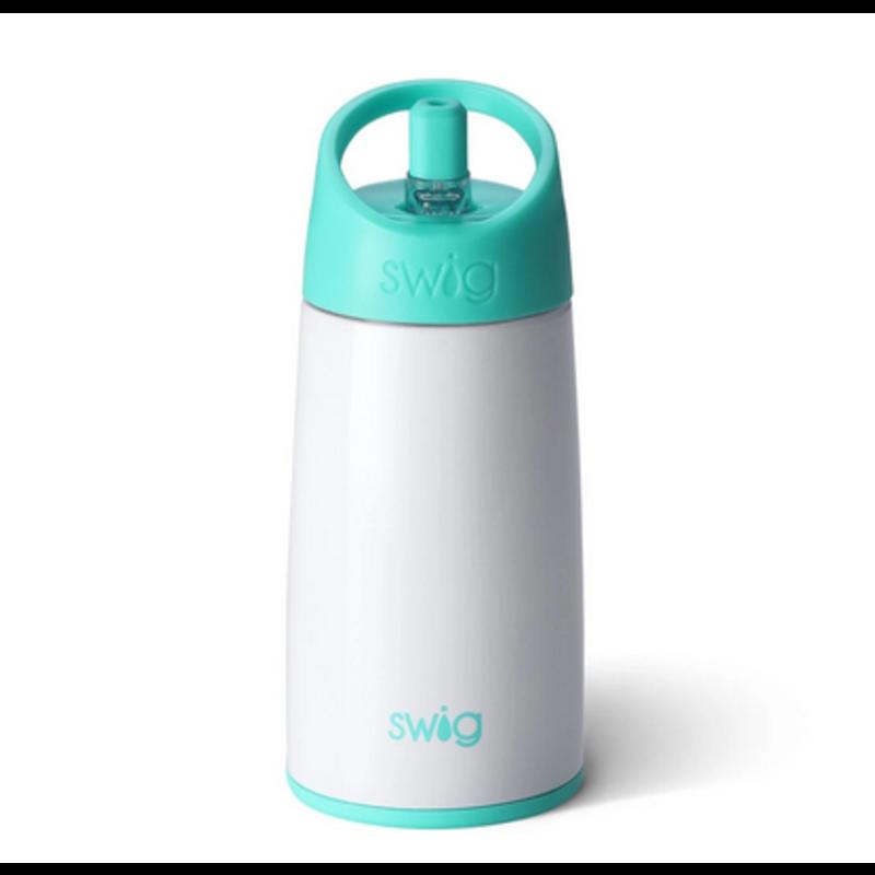 Swig Swig Glossy Diamond White Flip & Sip Bottle 12oz