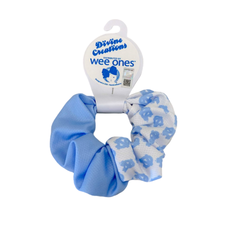 Wee Ones Bows Wee Ones UNC Two-Tone Printed Scrunchie