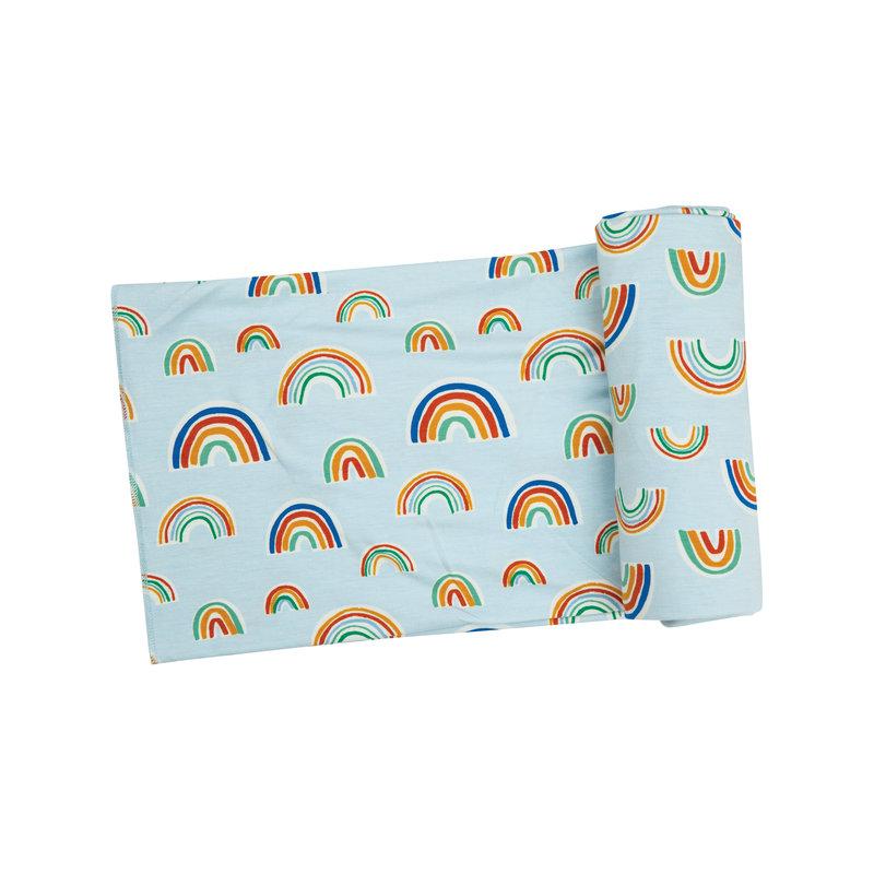 Angel Dear Angel Dear Rainbows Swaddle Blanket Blue Multi