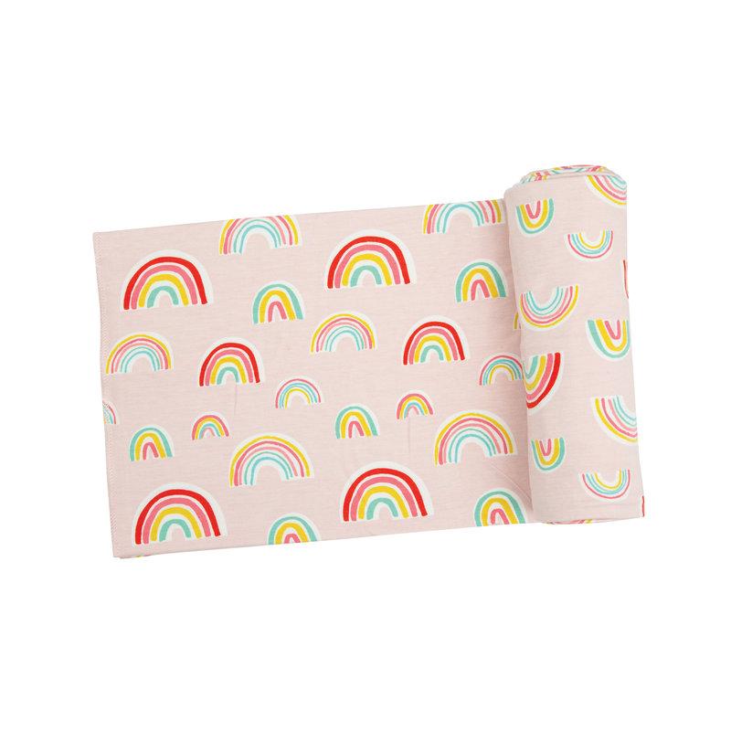 Angel Dear Angel Dear Rainbows Swaddle Blanket Pink