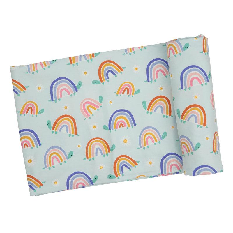 Angel Dear Angel Dear Rainbow Turtles Swaddle Blanket