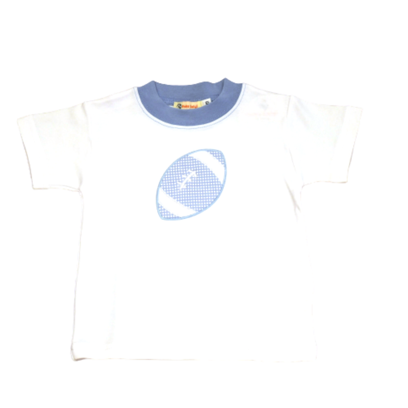 Luigi Luigi Boy SS Carolina Blue Football Tee