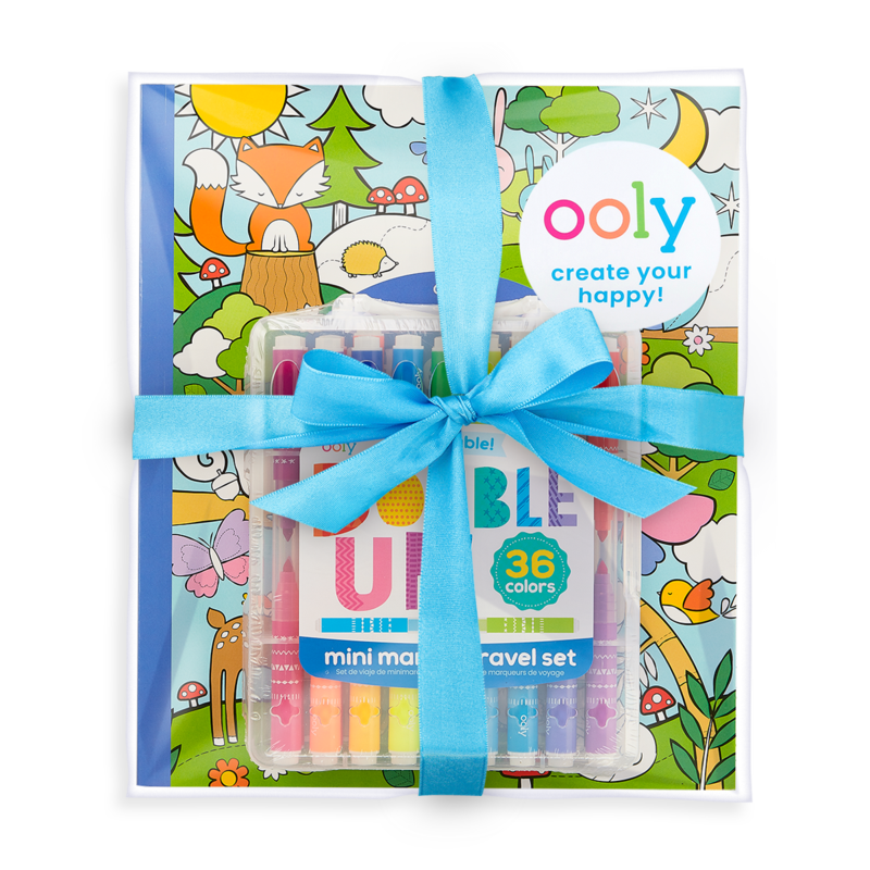 Ooly Ooly Double Up & Cozy Critters Coloring Pack