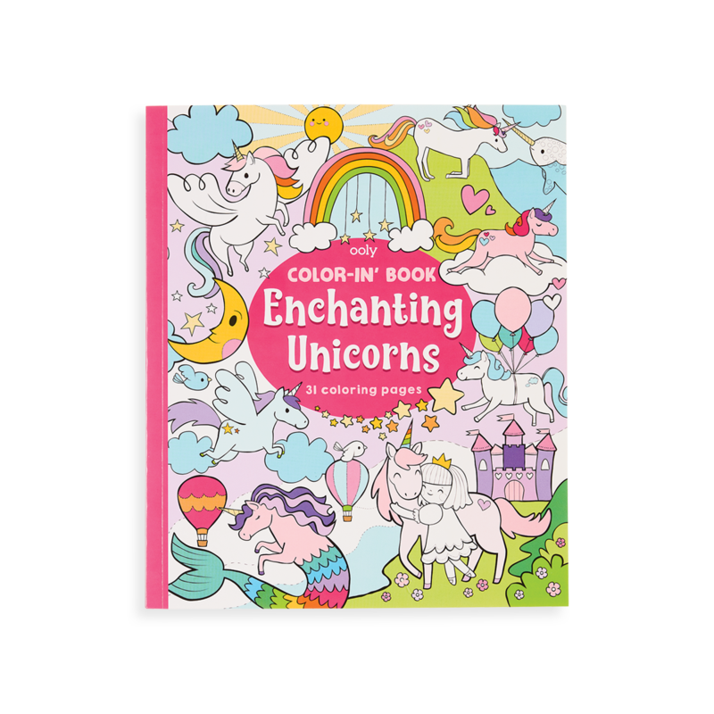 Ooly Ooly Color-in' Book: Enchanting Unicorns