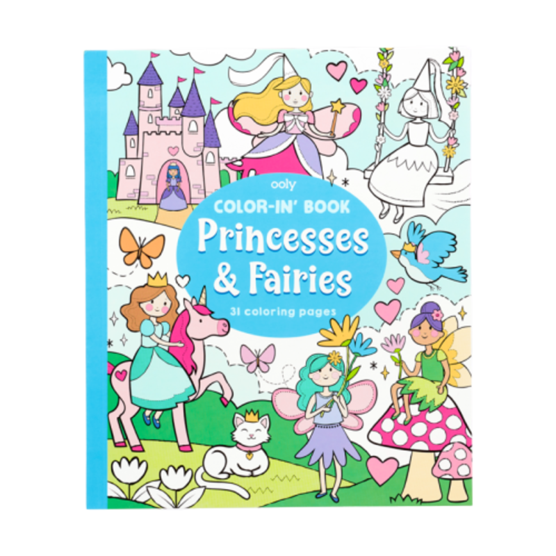 Ooly Ooly Color-in' Book: Princesses & Fairies (8x10)
