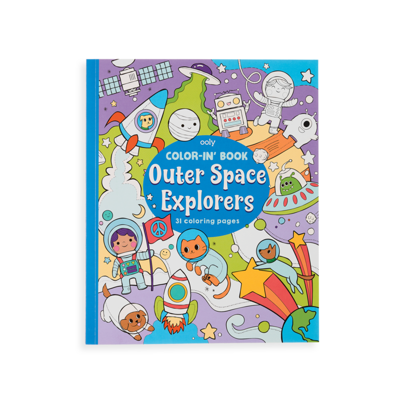 Ooly Ooly Color-in' Book: Outer Space Explorers