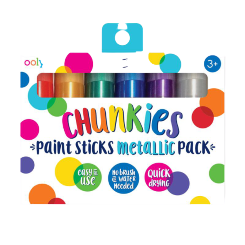 Ooly Ooly Chunkies Paint Sticks Metallic- Set of 6