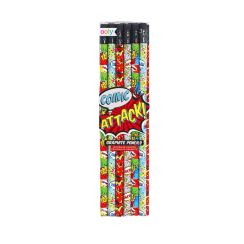 Ooly Ooly Comic Attack Graphite Pencils- Set of 12