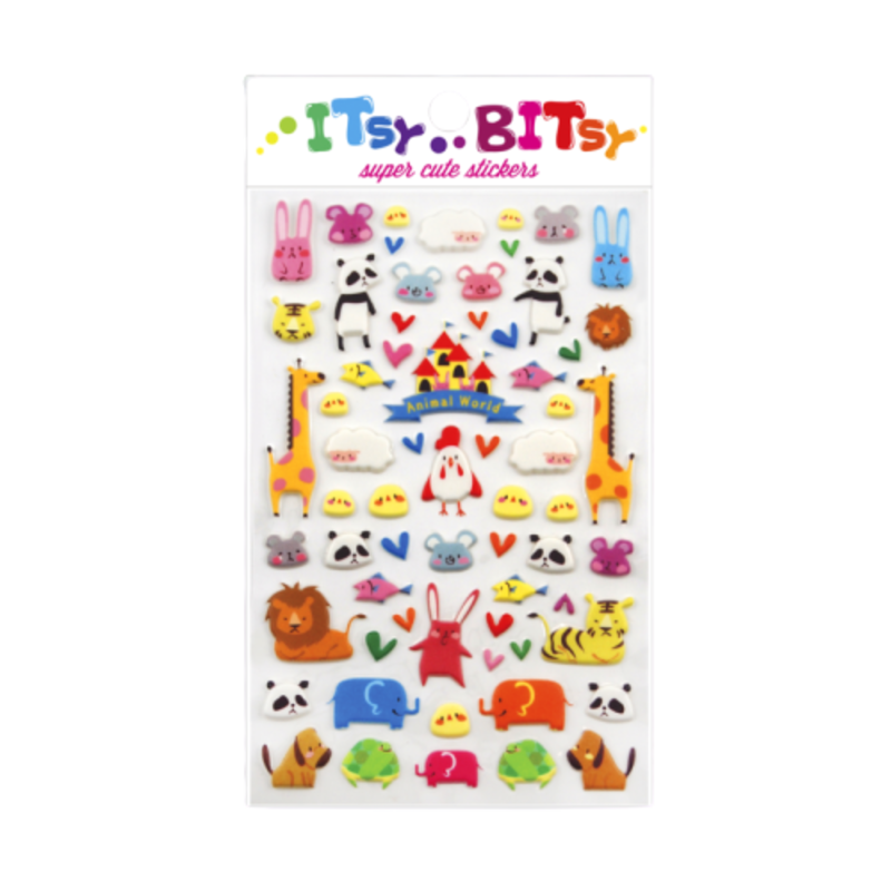 Ooly Ooly Itsy Bitsy: Animal World Stickers- 1 Sheet