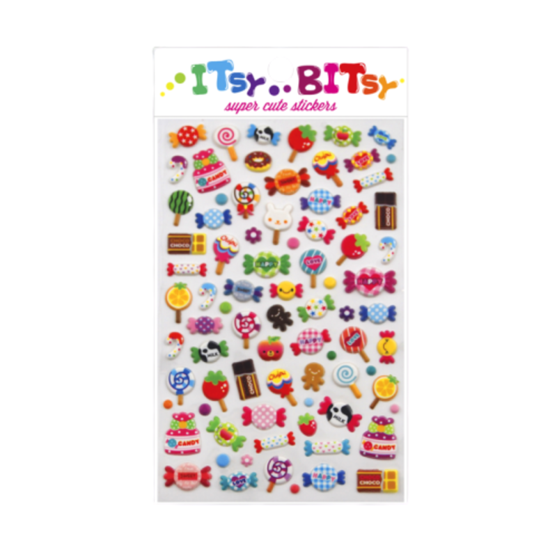 Ooly Ooly Isty Bitsy: Candy Time Stickers- 1 Sheet
