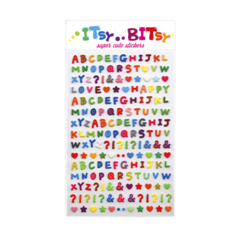 Ooly Ooly Itsy Bitsy: Pattern Alphabet Stickers- 1 Sheet