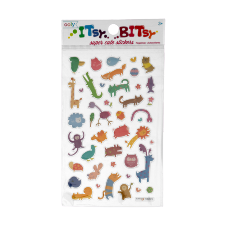 Ooly Ooly Itsy Bitsy: Wacky Wildlife Stickers- 1 Sheet