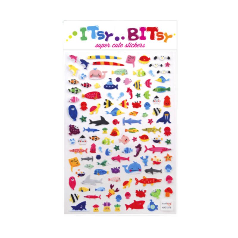 Ooly Ooly Itsy Bitsy: A Little Sea Life Stickers- 1 Sheet