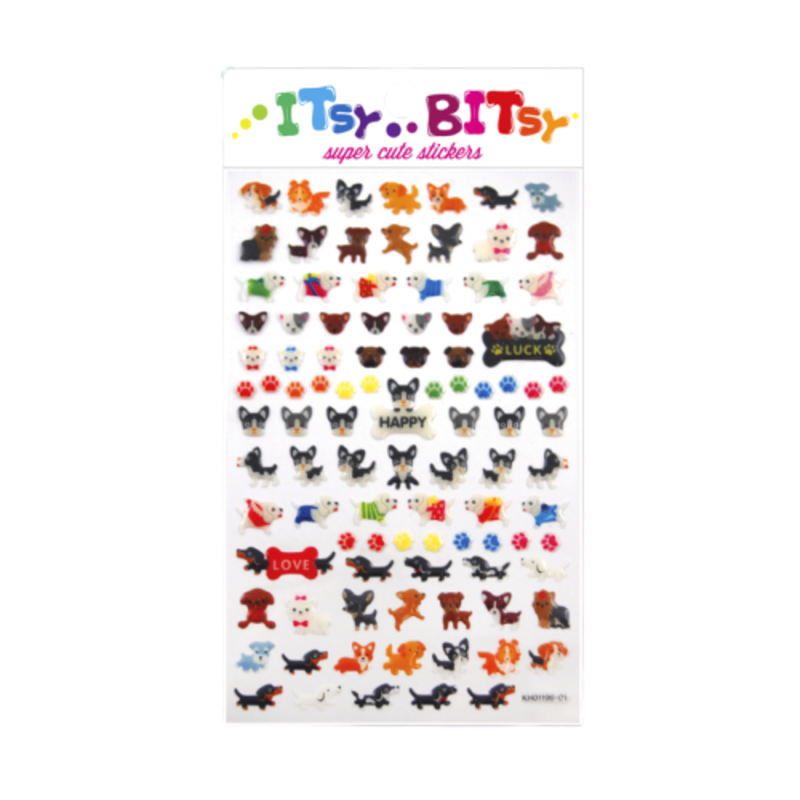 Ooly Ooly Itsy Bitsy: Pooches Stickers- 1 Sheet