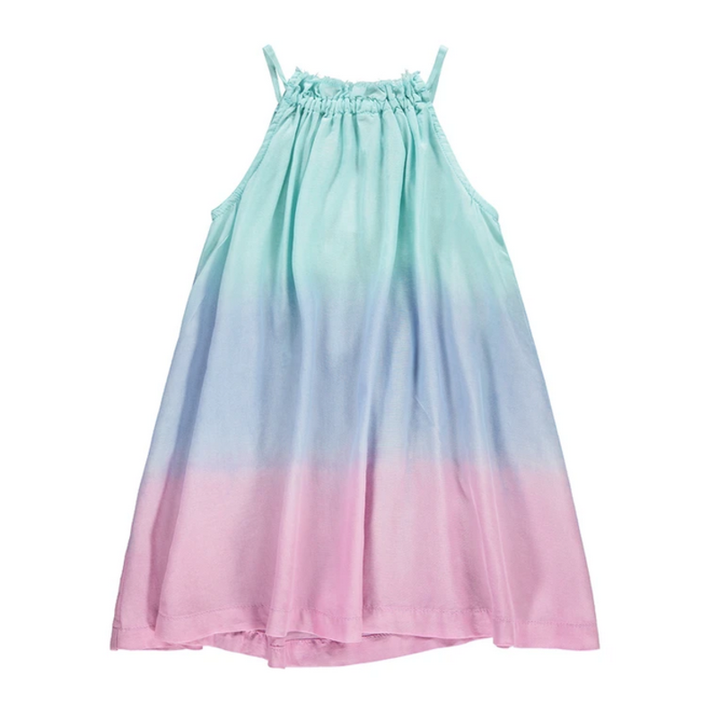Bella Dahl Bella Dahl Frayed Neck Swing Dress- Ombre Sunrise