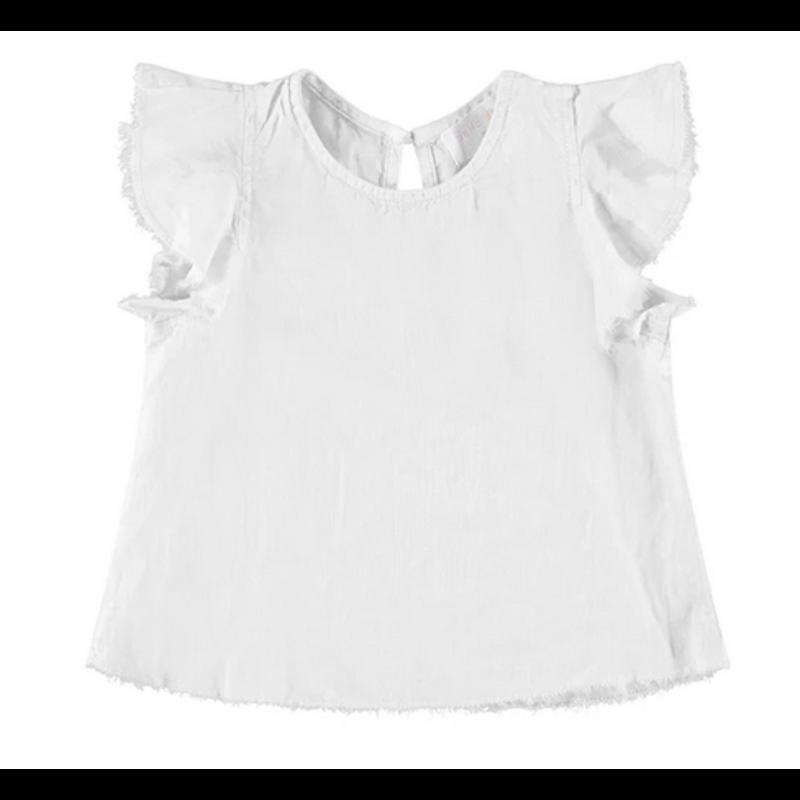 Bella Dahl Bella Dahl Flutter Sleeve Swing Top- White