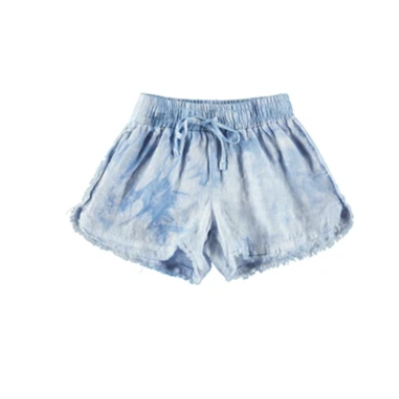 Bella Dahl Bella Dahl Frayed Seam Beach Short- Crystal Blue