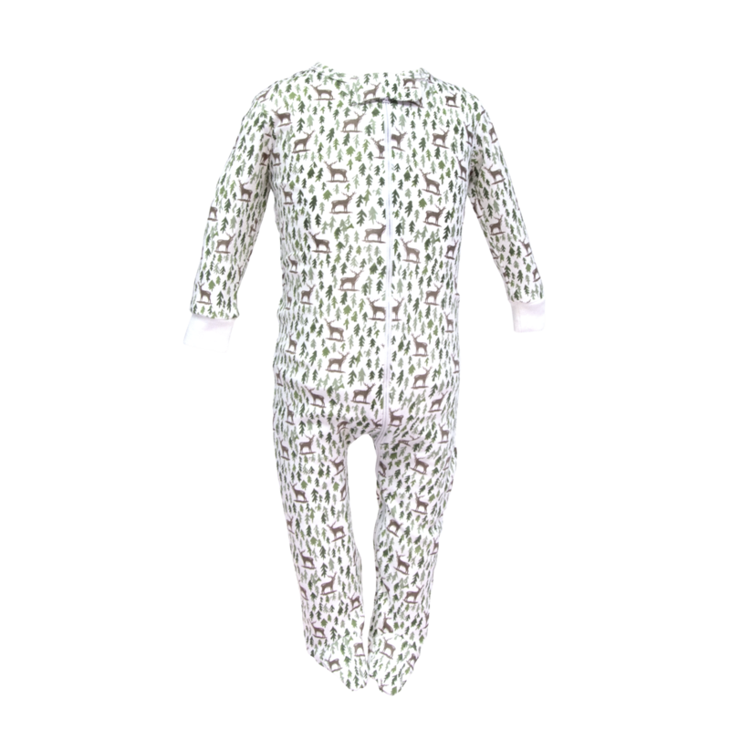 Lila + Hayes Lila + Hayes Parker- Deer in the Woods Zipper Pajama
