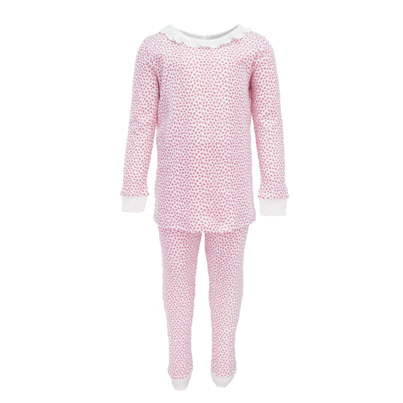 Lila + Hayes Lila + Hayes Ava- Hearts Afloat 2 pc Pajama Set