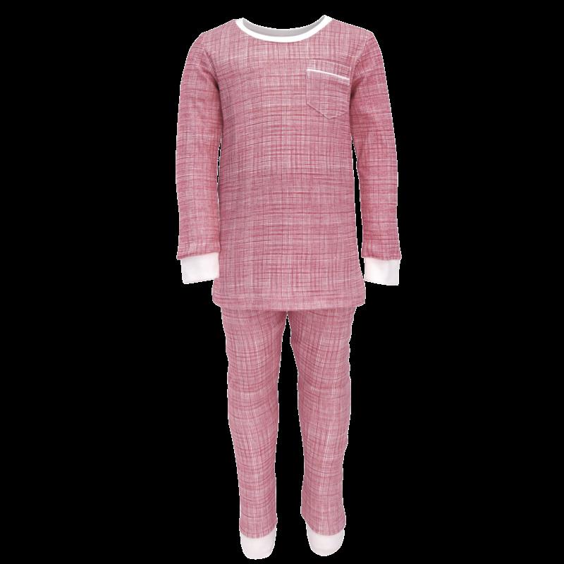 Lila + Hayes Lila + Hayes Bradford- Red Crosshatch Pocket 2 pc Pajama Set