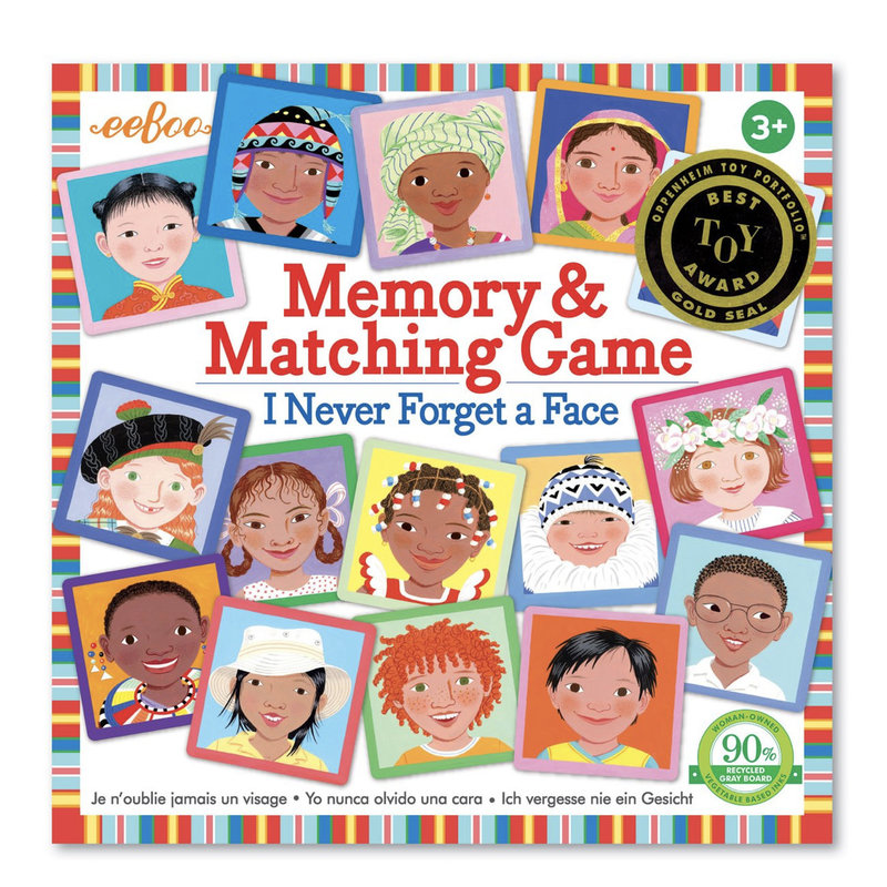 eeBoo Eeboo I Never Forget a Face Memory & Matching Game