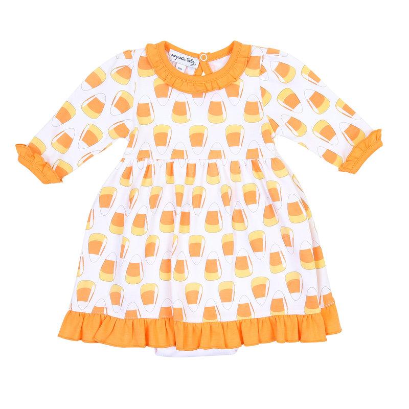 Magnolia Baby Magnolia Baby Candy Corn Printed L/S Dress Set
