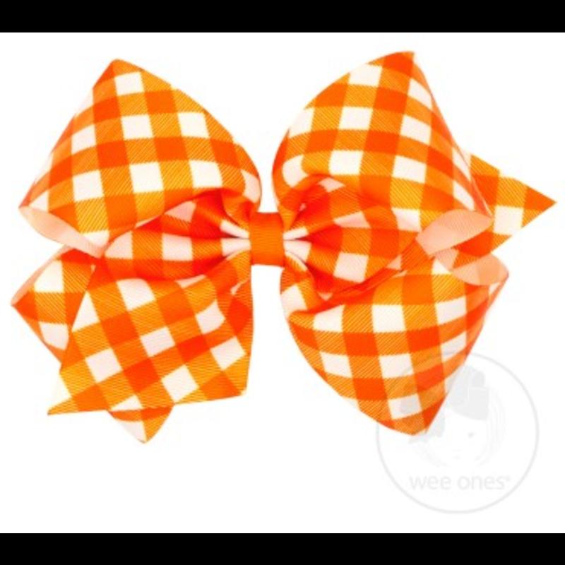 Wee Ones Bows Wee Ones King Orange Harvest Gingham Bow