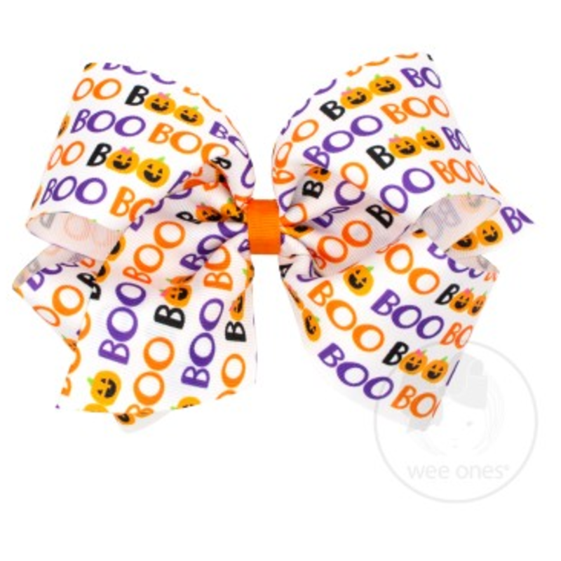 Wee Ones Bows Wee Ones King Boo Print Bow