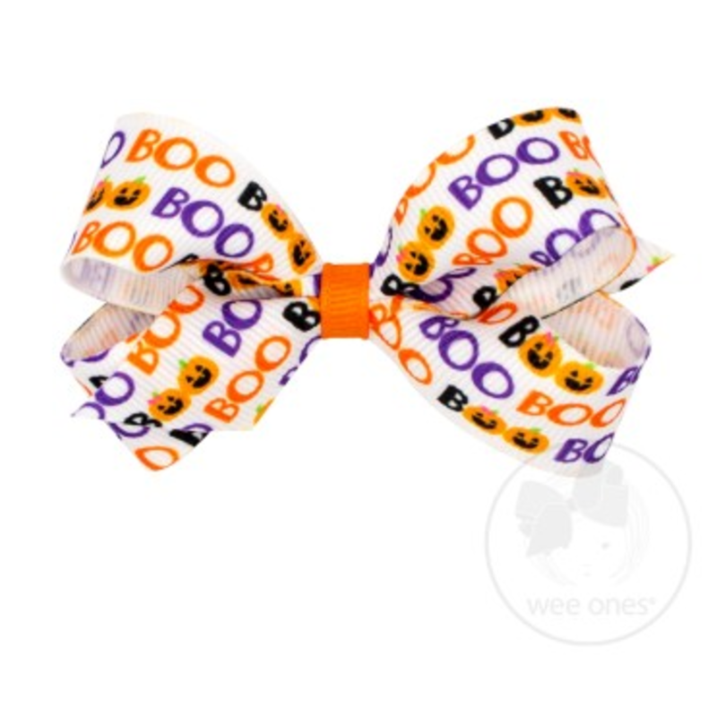 Wee Ones Bows Wee Ones Mini Boo Print Bow