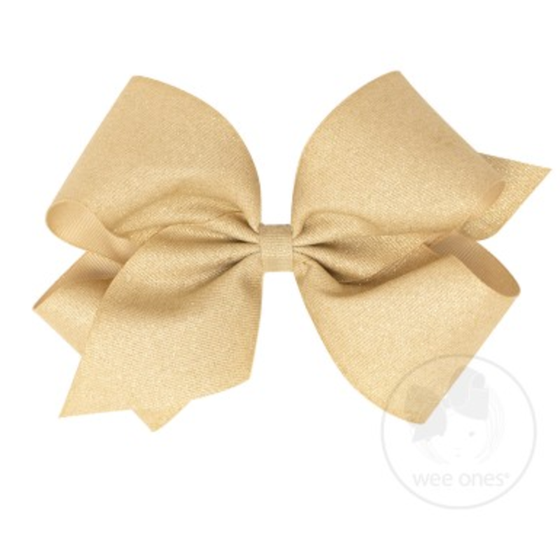 Wee Ones Bows Wee Ones King Champagne Sparkle Bow