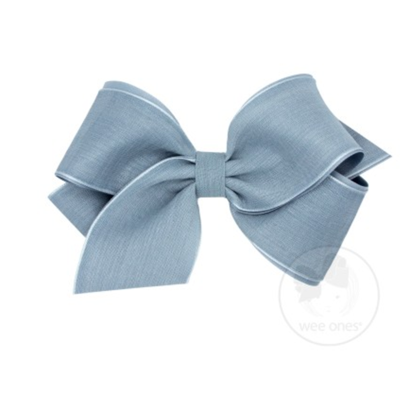 Wee Ones Bows Wee Ones King French Blue Canvas Linen Bow