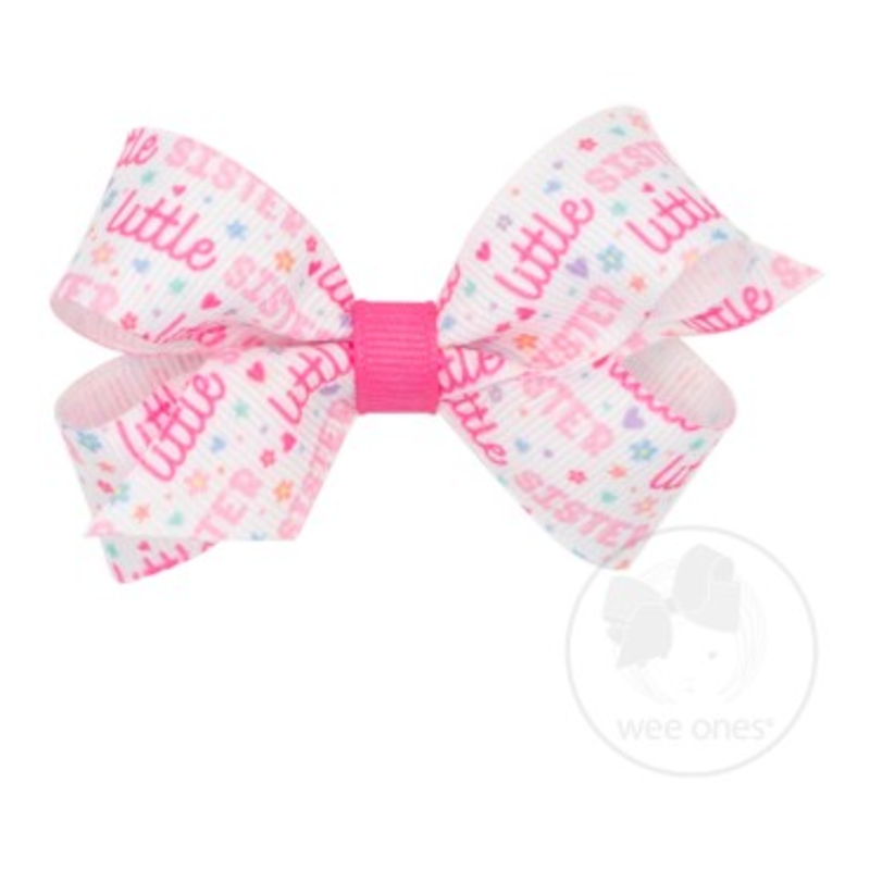 Wee Ones Bows Wee Ones Mini Little Sister Bow