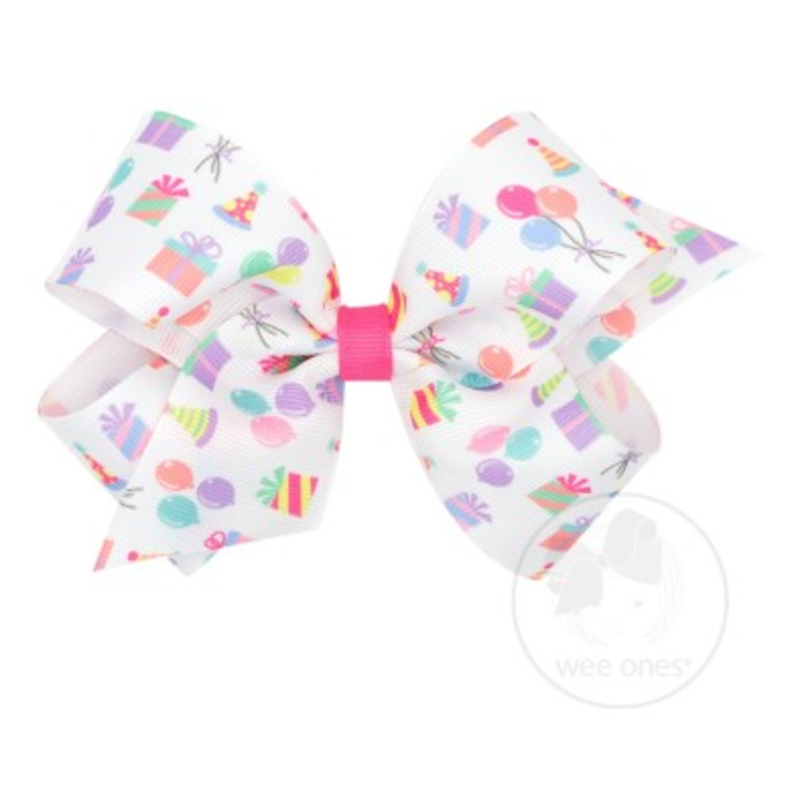 Wee Ones Bows Wee Ones Medium Party Print Bow