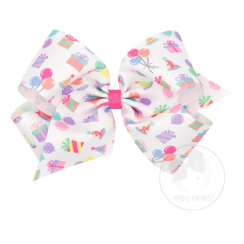 Wee Ones Bows Wee Ones King Party Print Bow