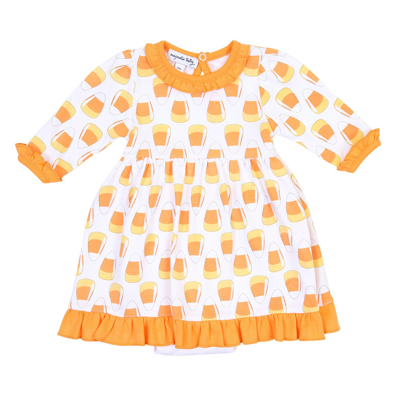 Magnolia Baby Magnolia Baby Candy Corn Printed L/S Toddler Dress Set