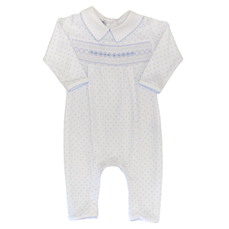 Magnolia Baby Magnolia Baby Alana and Andy's Classics Smocked Collared Playsuit