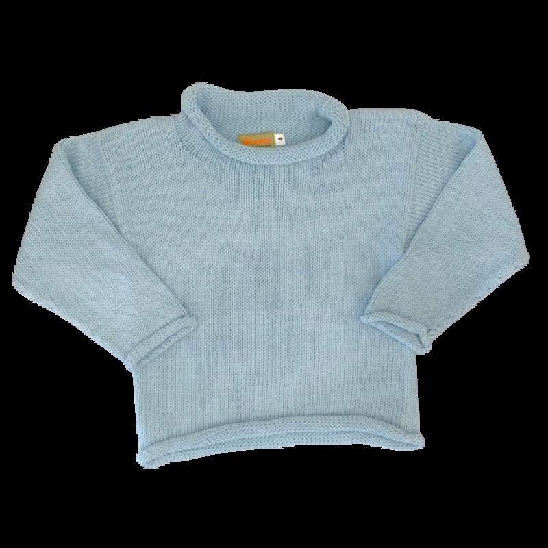 Luigi Luigi Light Celadon Blue Sweater