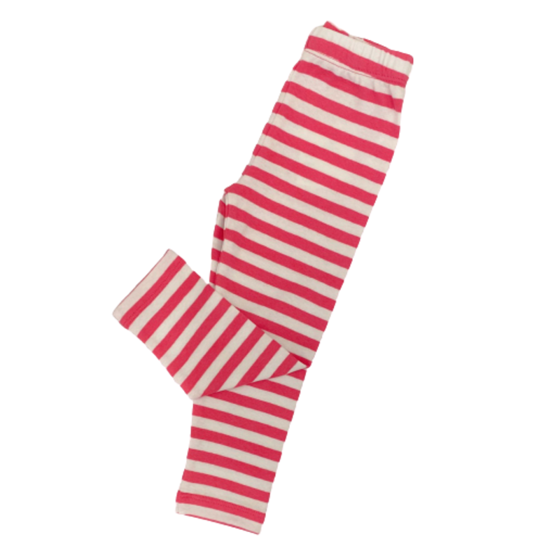 Luigi Luigi Hot Pink/White Thick Stripe Leggings