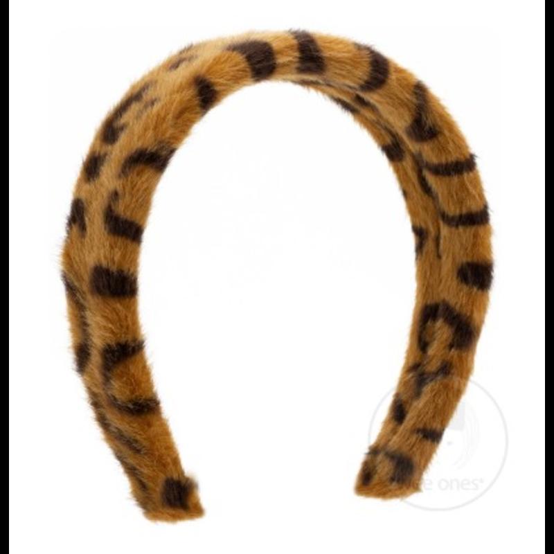 Wee Ones Bows Wee Ones Faux Brown Cheetah Print Fur Headband