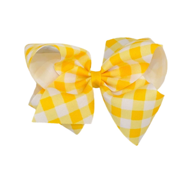 Wee Ones Bows Wee Ones King Yellow Jumbo Check Bow