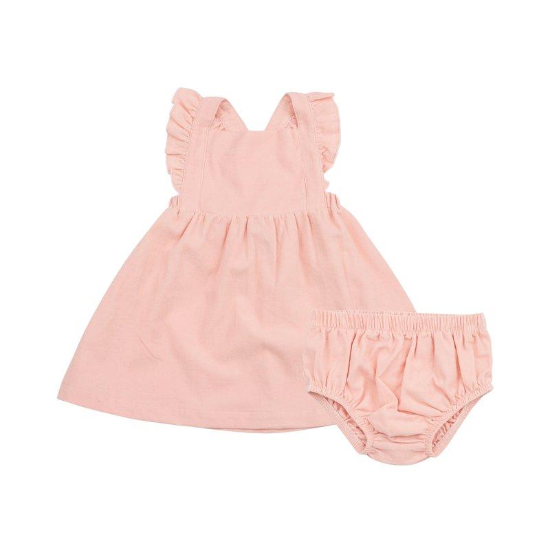 Angel Dear Angel Dear Pink Corduroy Pinafore Dress