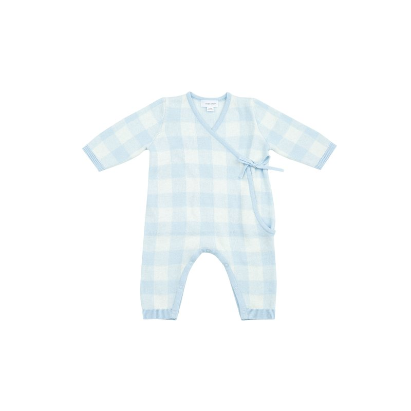 Angel Dear Angel Dear Gingham Kimono Wrap Blue