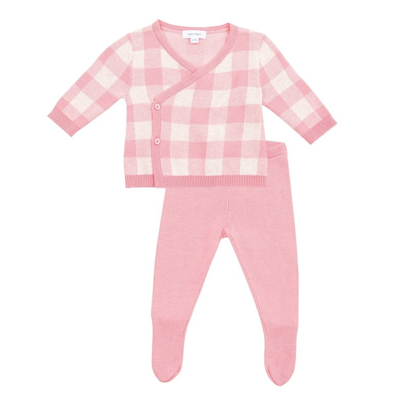 Angel Dear Angel Dear Gingham TMH Set Pink