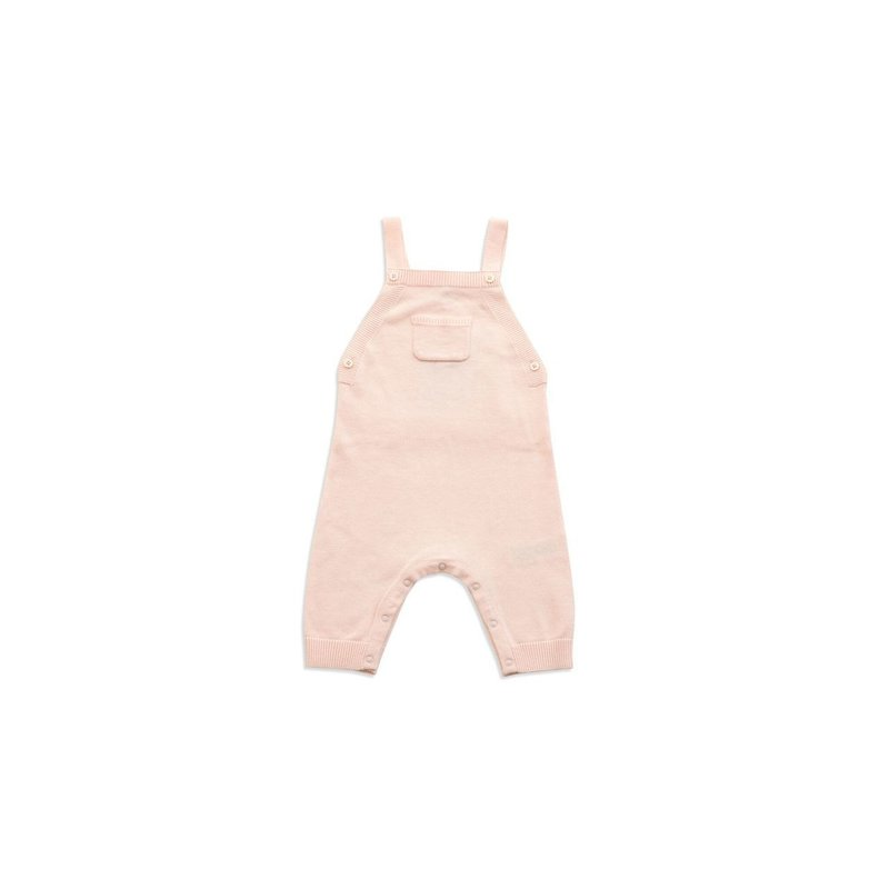 Angel Dear Angel Dear Ruffle Pocket Knit Overall Lt Pink