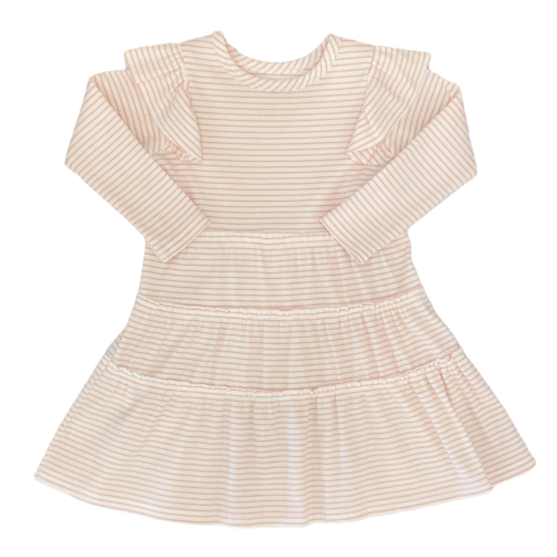 Mabel and Honey Mabel and Honey Pink Stripe Be-You-Tiful Dress