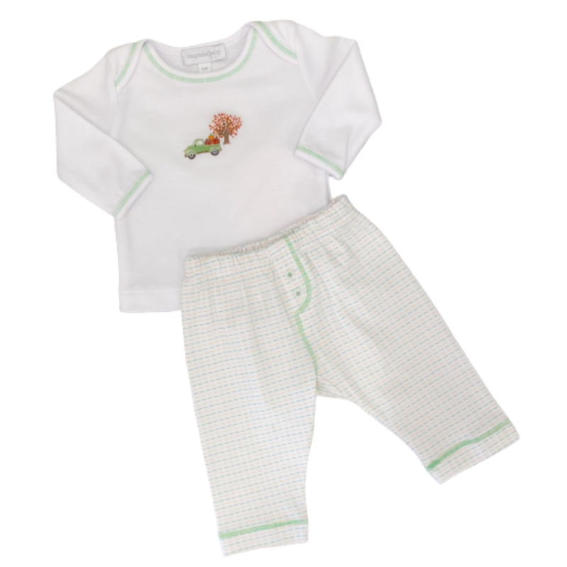 Magnolia Baby Magnolia Baby Fall Farm Emb 2pc Pant Set