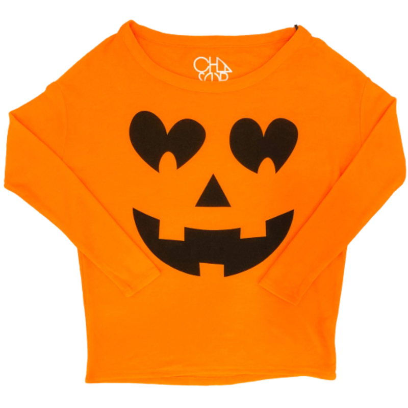 Chaser Knit LS Pumpkin Face Sweatshirt